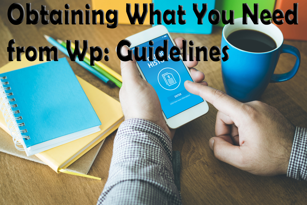 Obtaining What You Need from Wp: Guidelines